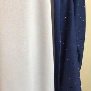 Vintage Dresses - Vintage 80s Navy Secretary Dress w/ White Dots